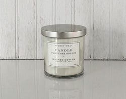 K HALL DESIGNS WASHED COTTON JAR CANDLE