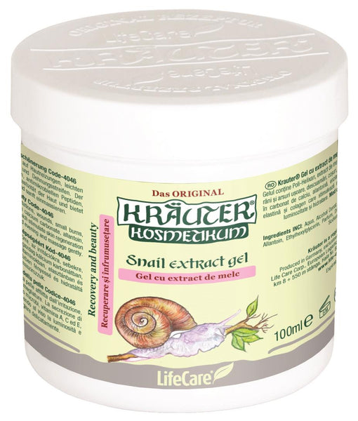 Snail extract gel for recovery and skin beauty