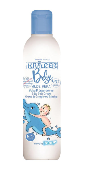 Body cream for babies with Aloe Vera and BIO plants Kräuter