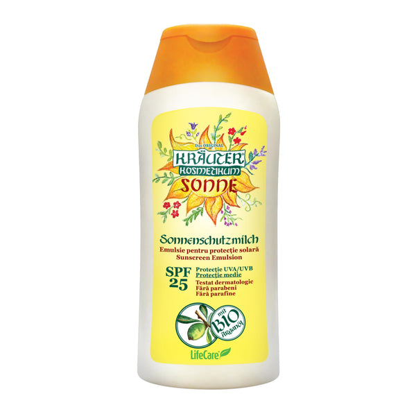Sun protection emulsion with BIO argan oil Kräuter®, SPF 25