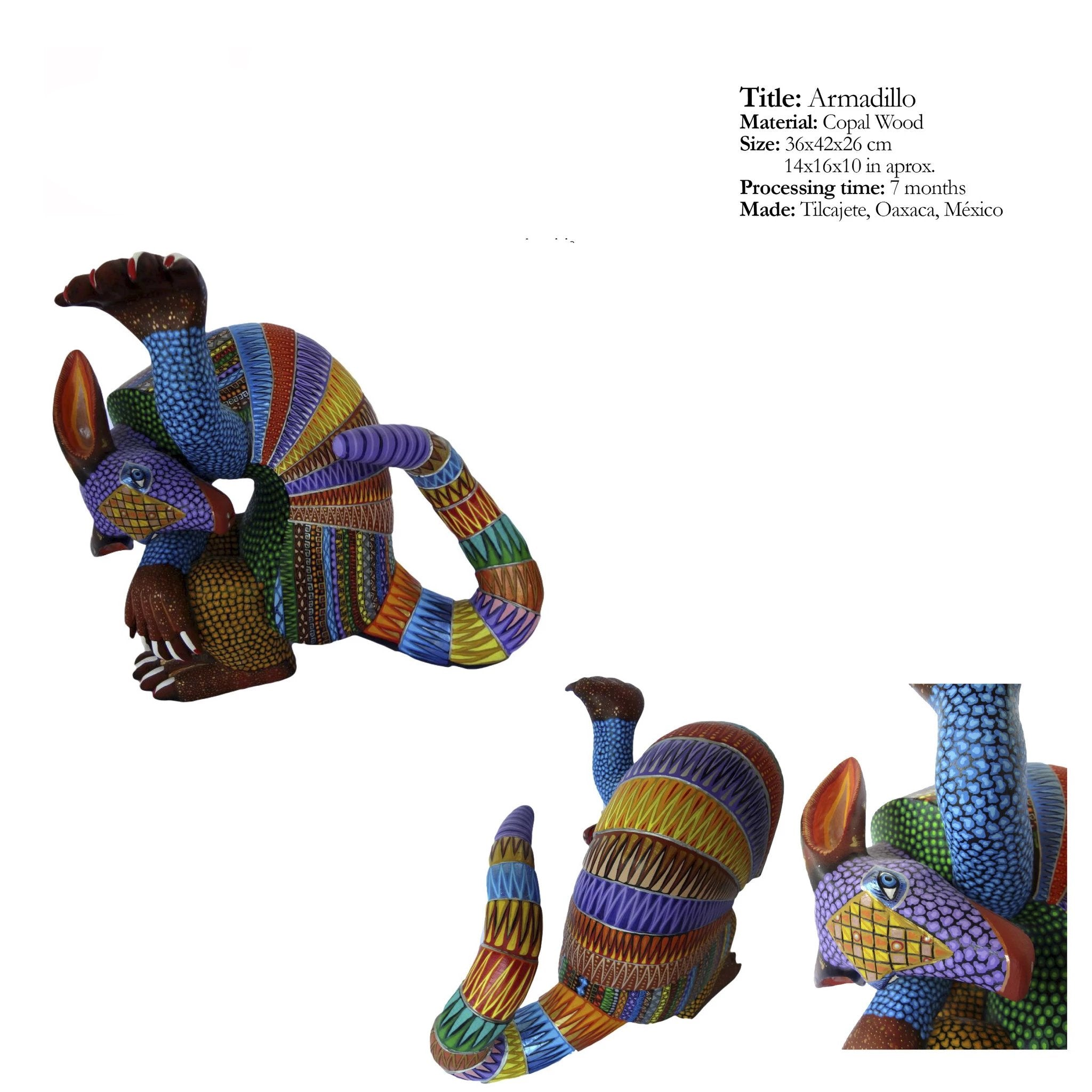 Armadillo - Average Quality Alebrijes