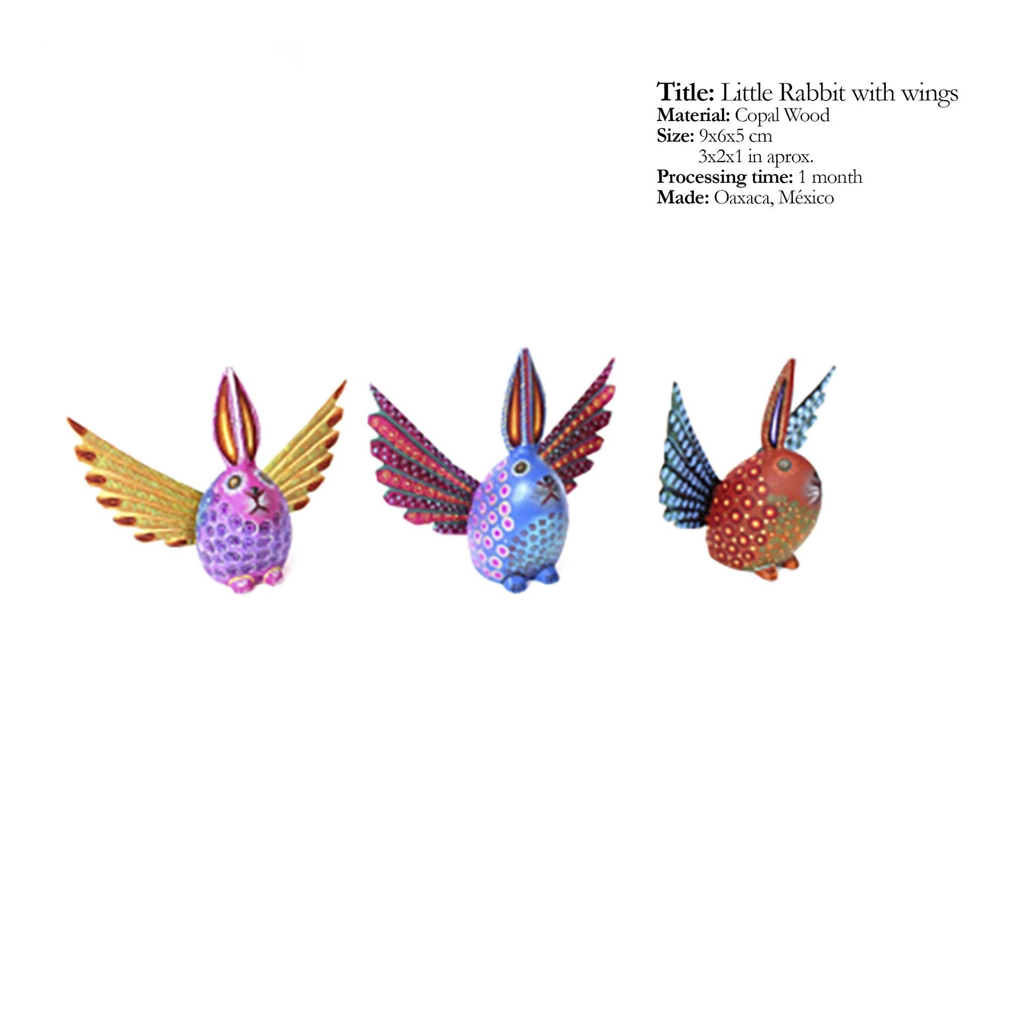 Little Rabbit with Wings - Traditional Alebrijes