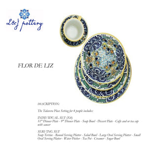 Talavera Tableware Model Flor de Liz