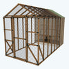8X16 Chicken/Poultry Coop & Run Kit