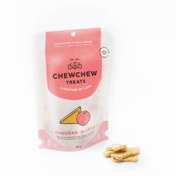 Cheddar 'N Apple Cookies - Chew Chew Treats - Healthy Organic Dog Treats