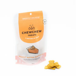 Peanut Butter Pumpkin Pie Cookies - Chew Chew Treats - Healthy Organic Dog Treats