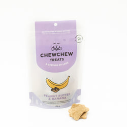 Peanut Butter & Banana Cookies - Chew Chew Treats - Healthy Organic Dog Treats