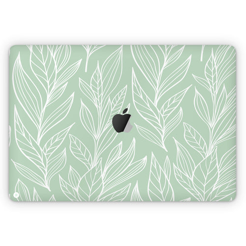 Mint Flora (MacBook Skin)