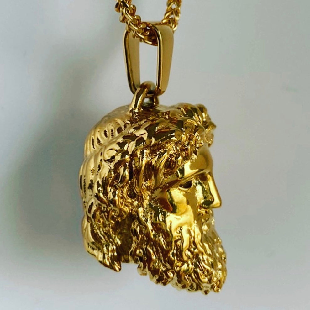 The Zeus Head Pendant by Midas Co