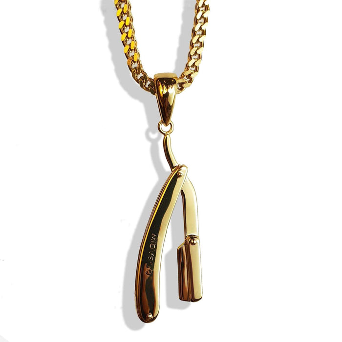The 'Razor' Micro Pendant - Gold