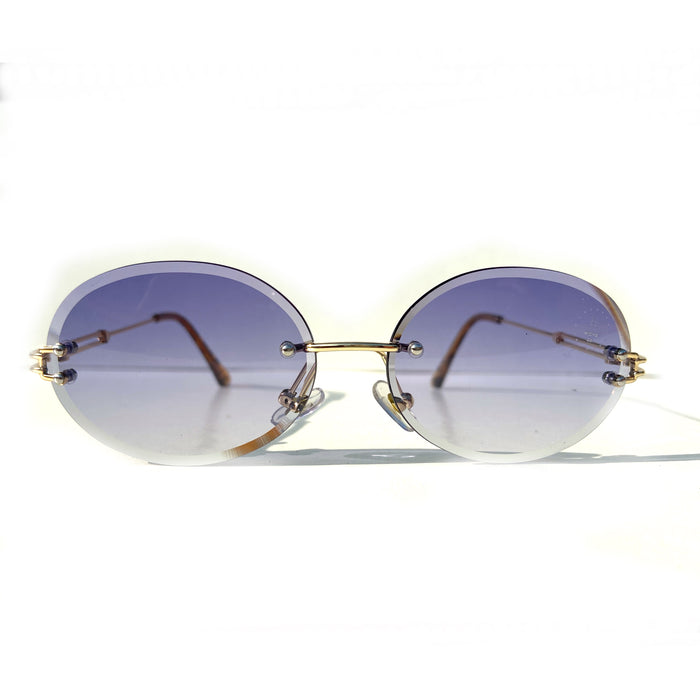 The Nore Shades Clear Blue / Gold