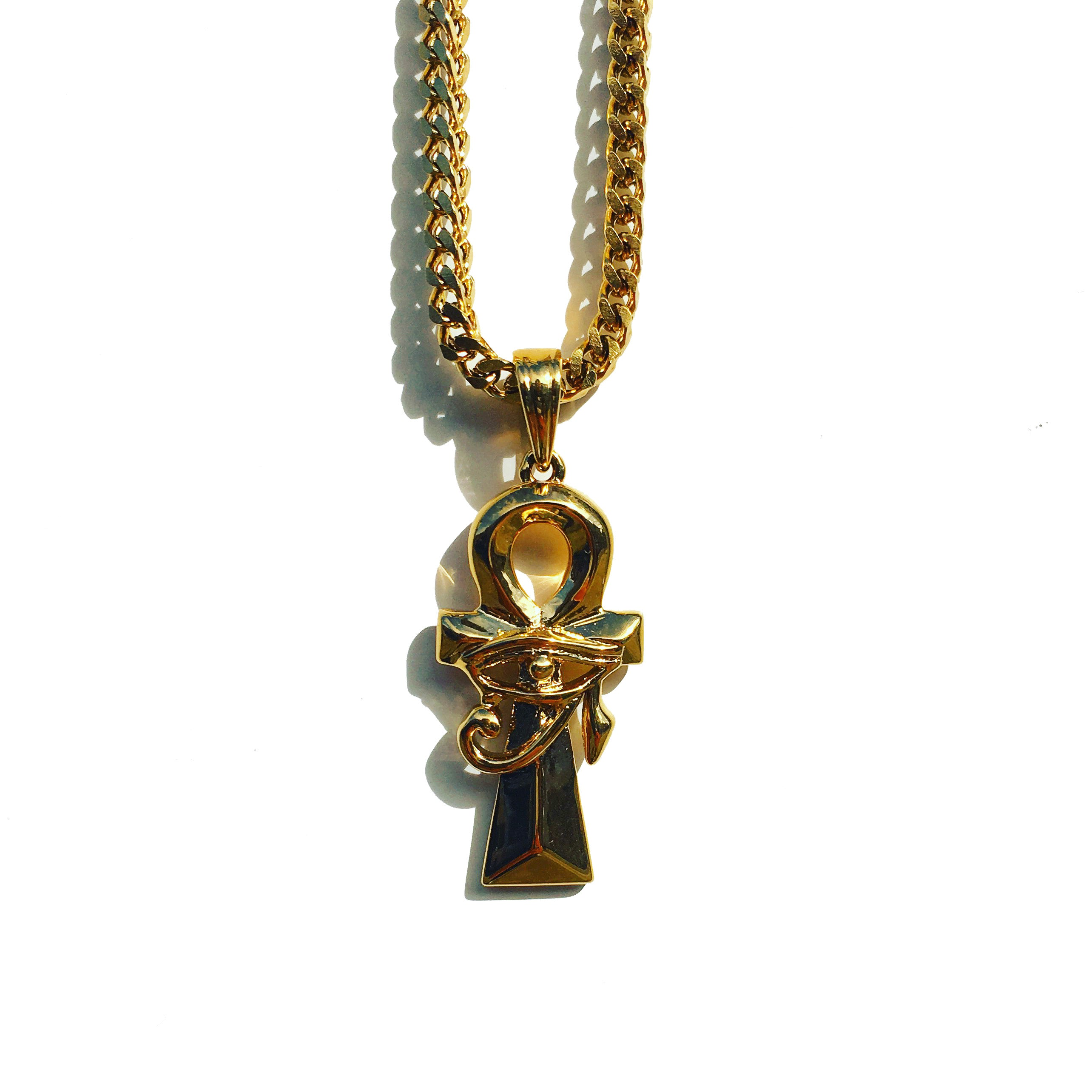 Midas Co Ankh & Eye gold chain