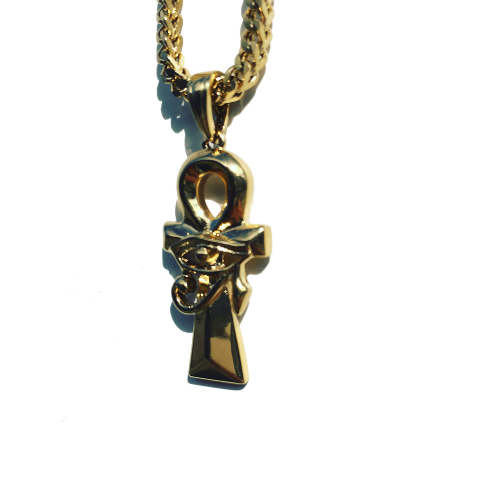 The 'Ankh & Eye' Pendant - Gold