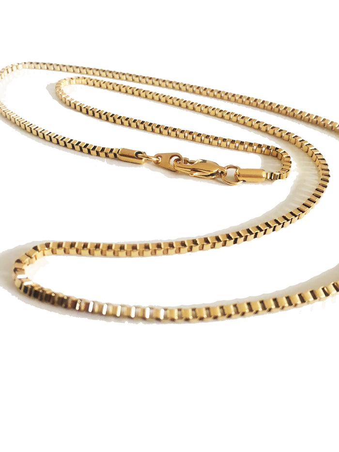 "The Midvs Co 28"" Box Chain - Gold"
