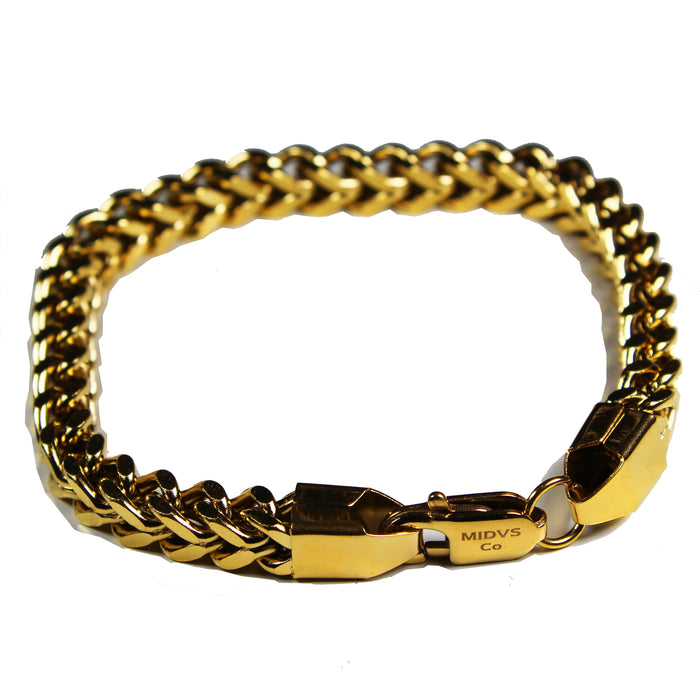 Midvs Co Franco Bracelet Gold