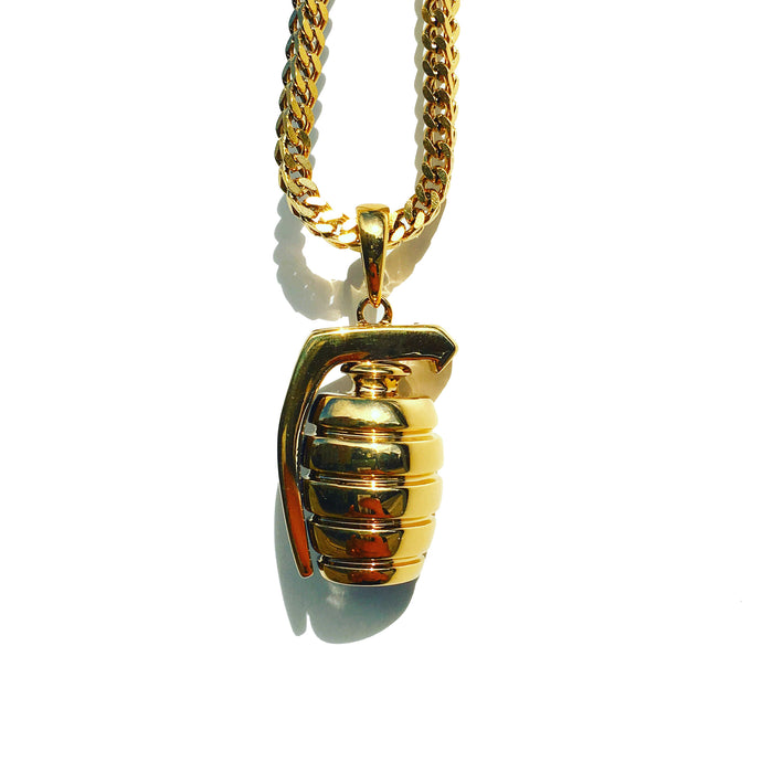 The 'Grenade' Micro Pendant - Gold