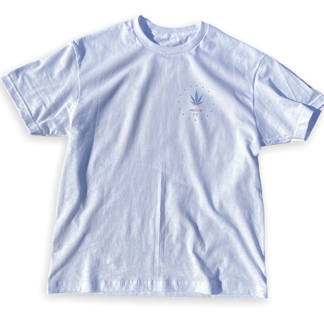 Midas Co 420 faded T-shirt - white