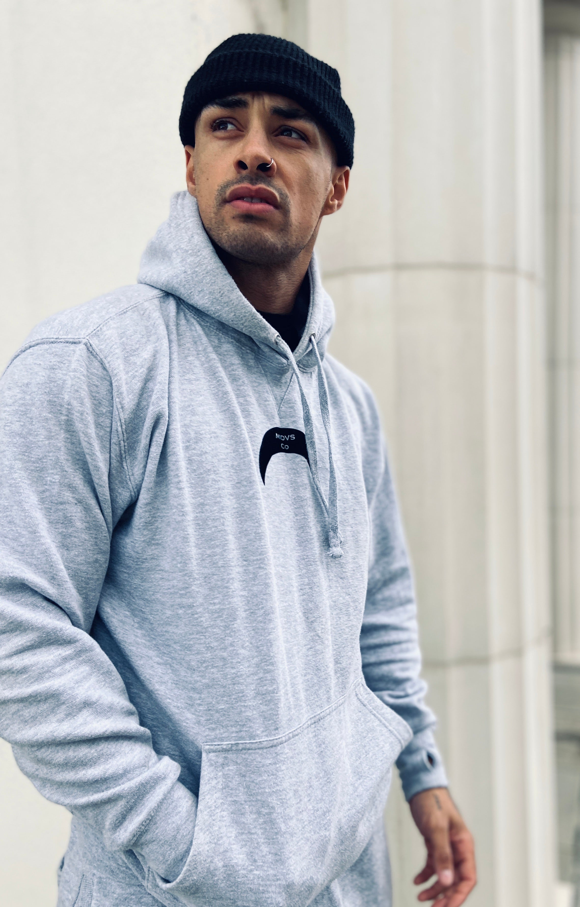 Midas Co Crescent Pack Logo Heavyweight Hoody - Grey