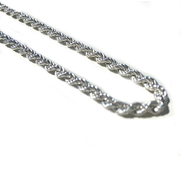 Rope Chain - Solid 925 Silver | 4mm