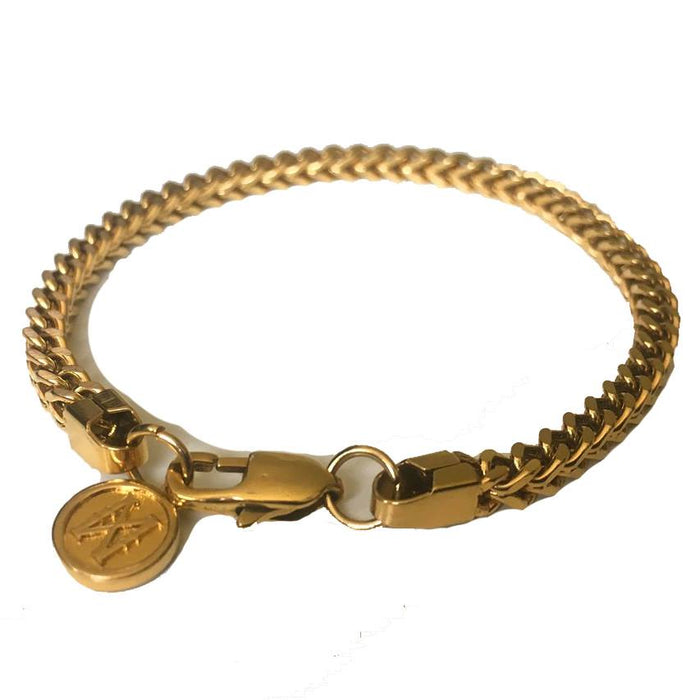 Midas Co 4mm Franco Bracelet 18kt Gold