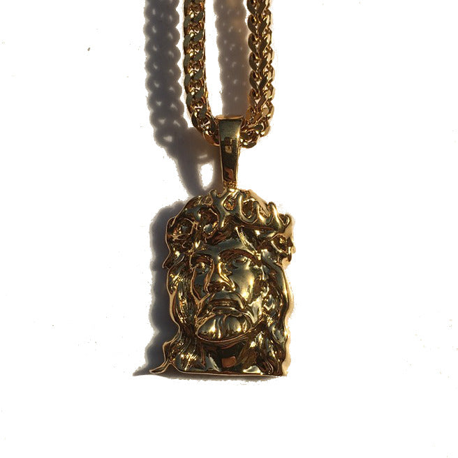 The 'Salvation' Jesus piece Micro Pendant - Gold