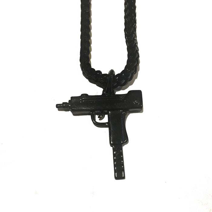 The 'Uzi' Micro Pendant - Rhodium