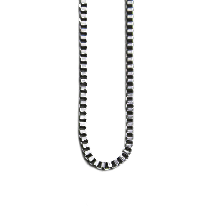 "Box Link Chain White Gold | 28"" - 2.5mm"