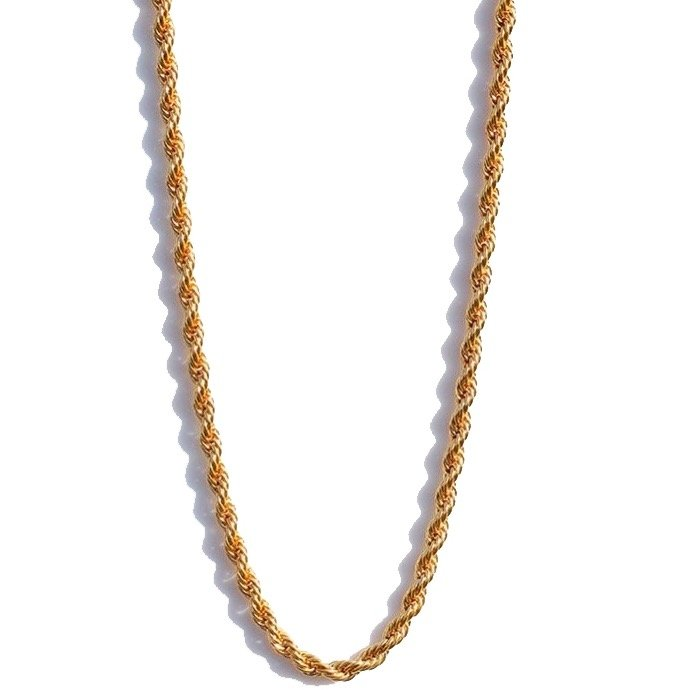 "Rope Chain 18kt Gold | 22"" - 4mm"