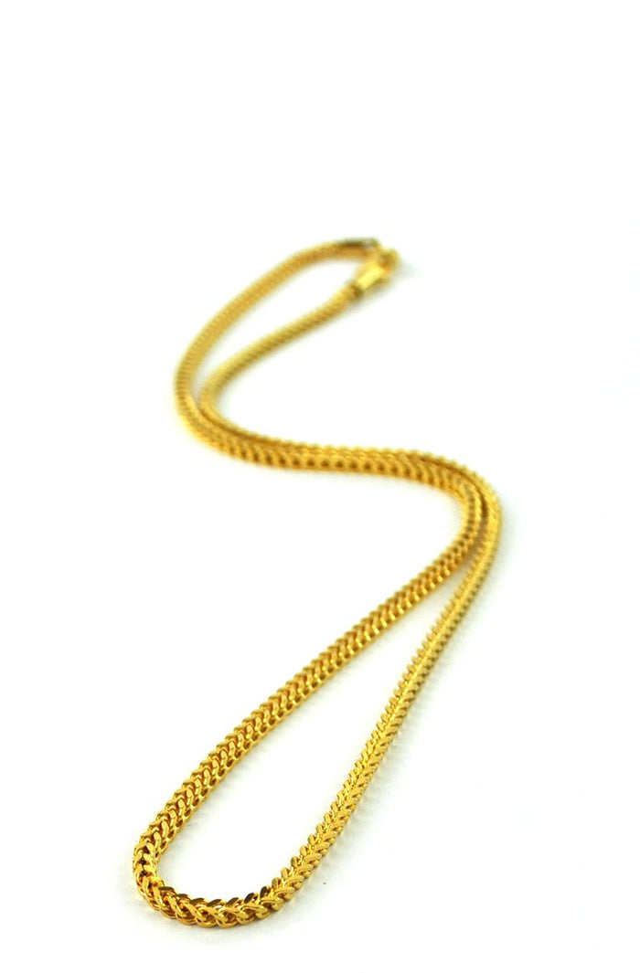 "Franco Chain 18kt Gold | 22"" - 2mm"