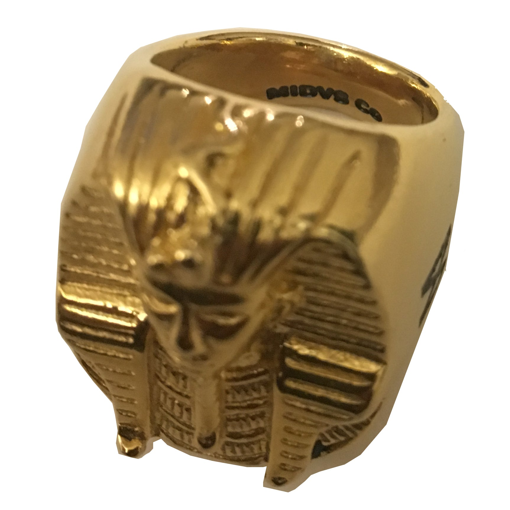 The 'Rulers' Pharoah Head Ring - 18kt Gold