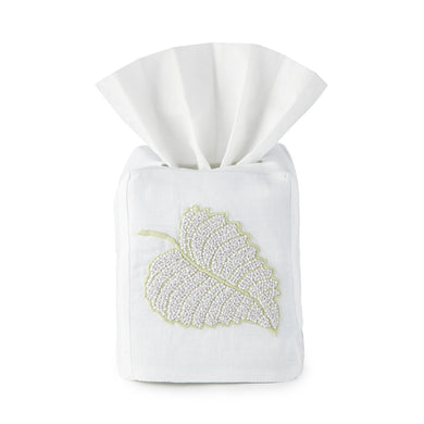Aspen Leaf Tissue Box Cover - Loro Lino