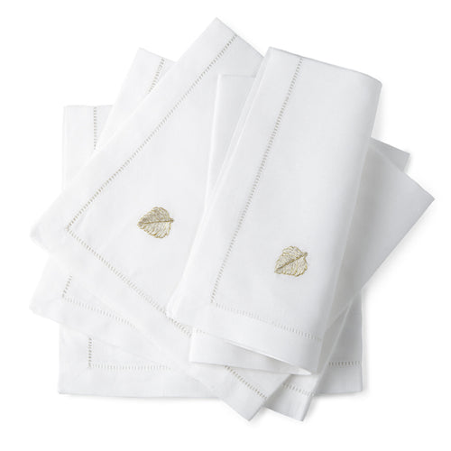 Aspen Dinner/Luncheon Napkins 20x20 (Set of 4) also in White on White - Loro Lino