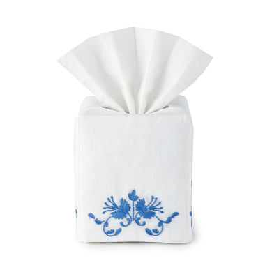 Bleeding Hearts Tissue Box Cover - Loro Lino Fine Linens