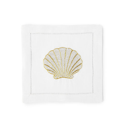 Shell Cocktail Napkin 6x6 (Set of 4) - Loro Lino