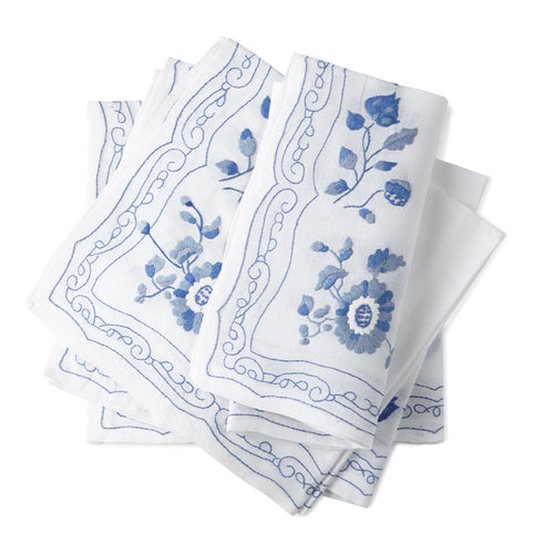 Elouise Dinner/Luncheon Napkins 20x20 (Set of 4) - Loro Lino Fine Linens