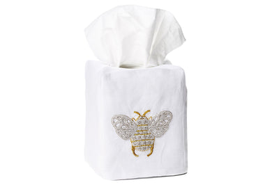 Bee Tissue Box Cover - Loro Lino Fine Linens