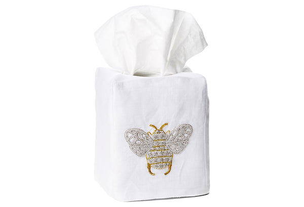 Bee Tissue Box Cover - Loro Lino