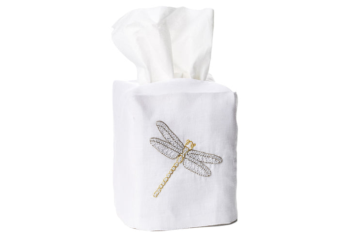 Dragonfly Tissue Box Cover - Loro Lino