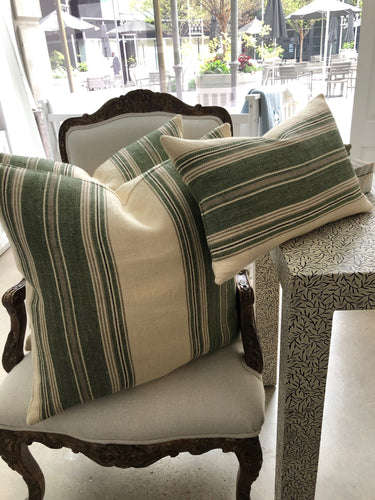 Northeast Harbor Stripe Pillows - Loro Lino