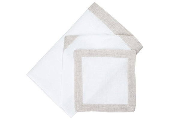 Malibu Dinner/Luncheon Napkins Assortment (Set of 4) - Loro Lino