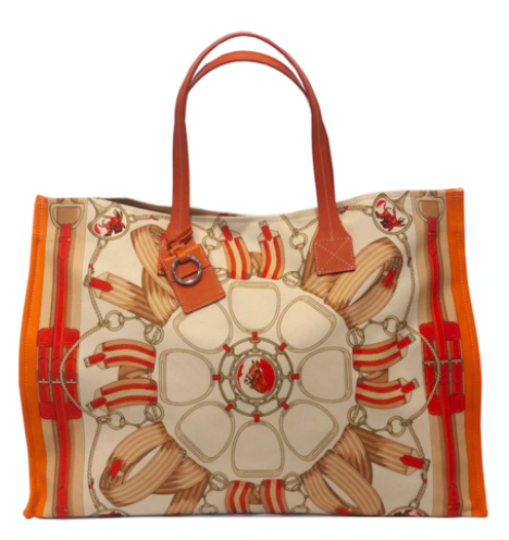 Fabulous Tote Wellington in Orange Rani Arabella - Loro Lino Fine Linens
