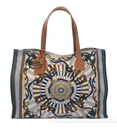 Fabulous Tote Florence in Blue - Loro Lino