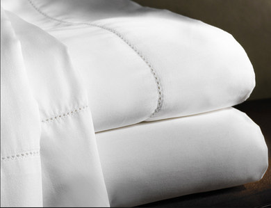 Aspen Hemstitch King Sheet Set - Loro Lino Fine Linens
