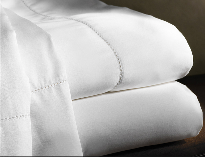Aspen Hemstitch King Sheet Set - Loro Lino