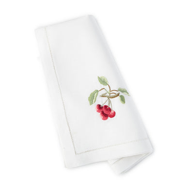 Cherry Dinner/Luncheon Napkins 20x20 (Set of 4) - Loro Lino