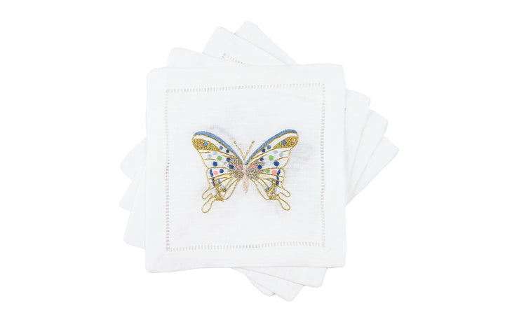 Freddy Butterfly Cocktail 6x6 (Set of 4) - Loro Lino