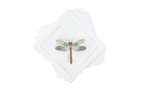 Fishers Dragonfly Cocktail Napkins 6x6 (Set of 4) - Loro Lino