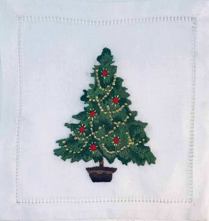 Christmas Tree Potted Cocktail 6x6 (Set of 4)