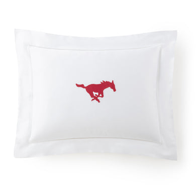 Mustang Boudoir Pillow with Insert Hand Embroidered