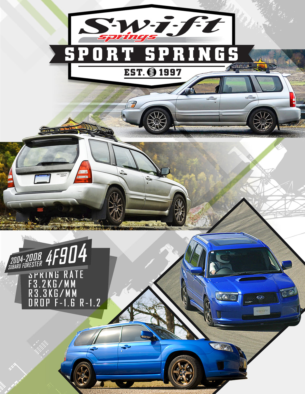 Swift Sports Springs 04-08 Subaru Forester